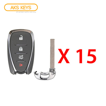 2016 - 2021 Chevrolet Smart Key 4B FCC# HYQ4EA (15 Pack)