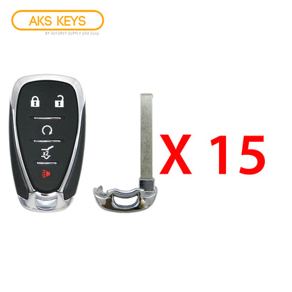 2018 - 2021 Chevrolet Smart Key 5B FCC# HYQ4EA (15 Pack)