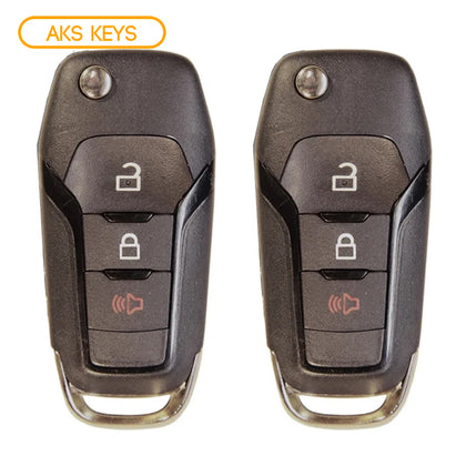 2015 - 2019 Ford Flip Key 3B FCC# N5F-A08TAA / 5923667 (2 Pack)