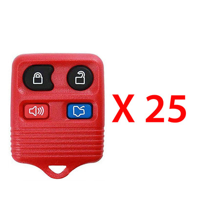 1996 - 2013 Ford Remote Control 4B (Red) FCC# CWTWB1U331 / CWTWB1U345 (25 Pack)