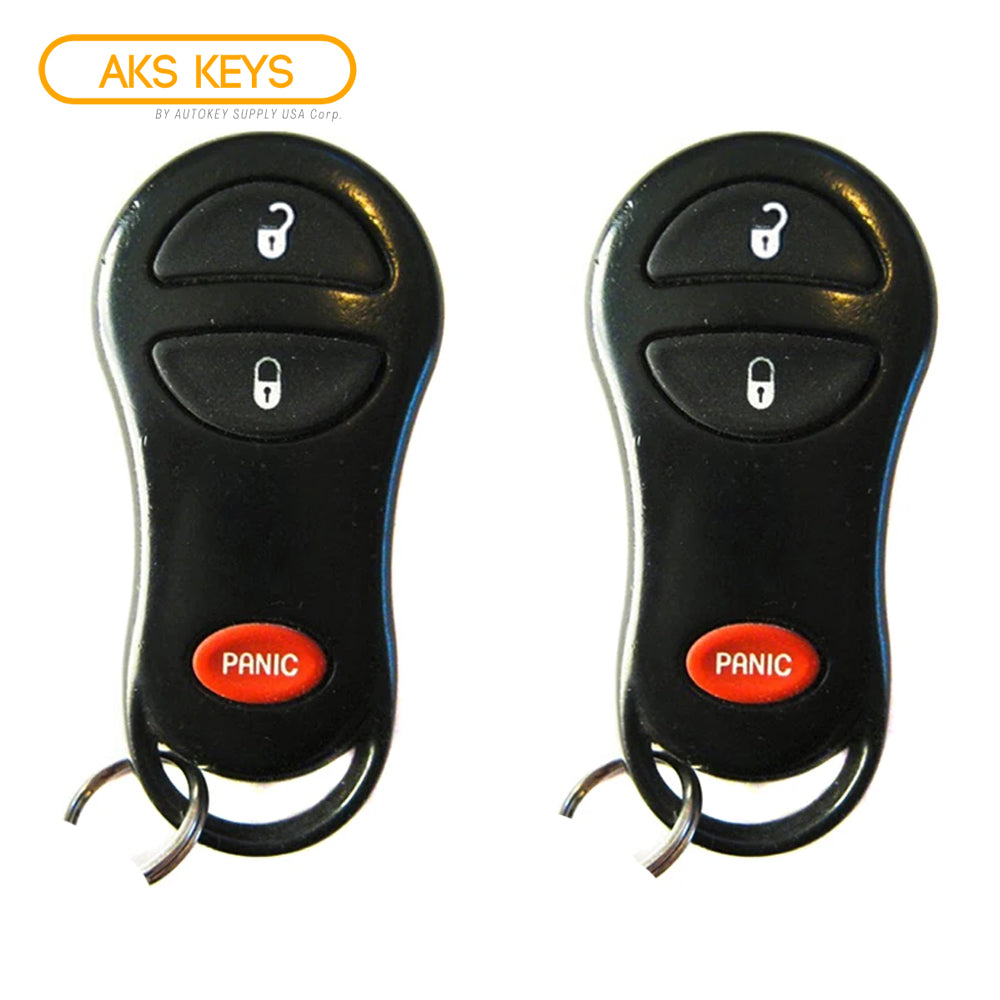 1999 - 2004 Jeep Cherokee & Grand Cherokee Remote Control FCC# GQ43VT9T (2 Pack)