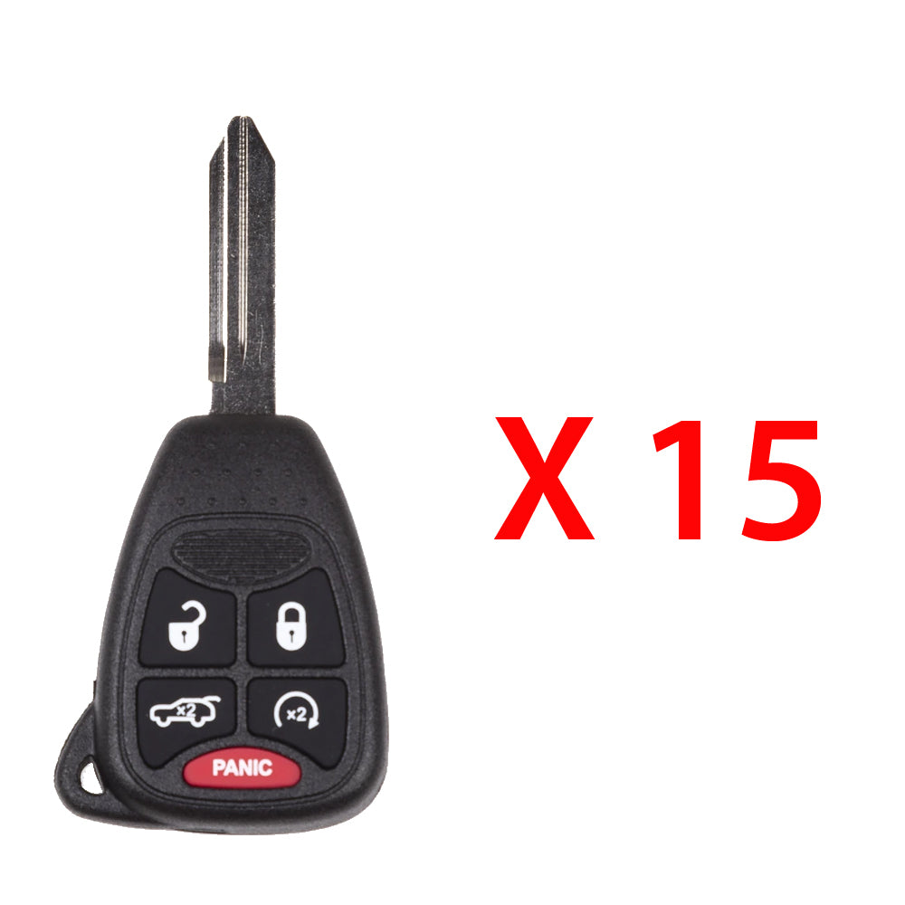 2006 - 2014 Jeep Remote Head Key 5B FCC# OHT692427AA/ OHT692713AA (15 Pack)