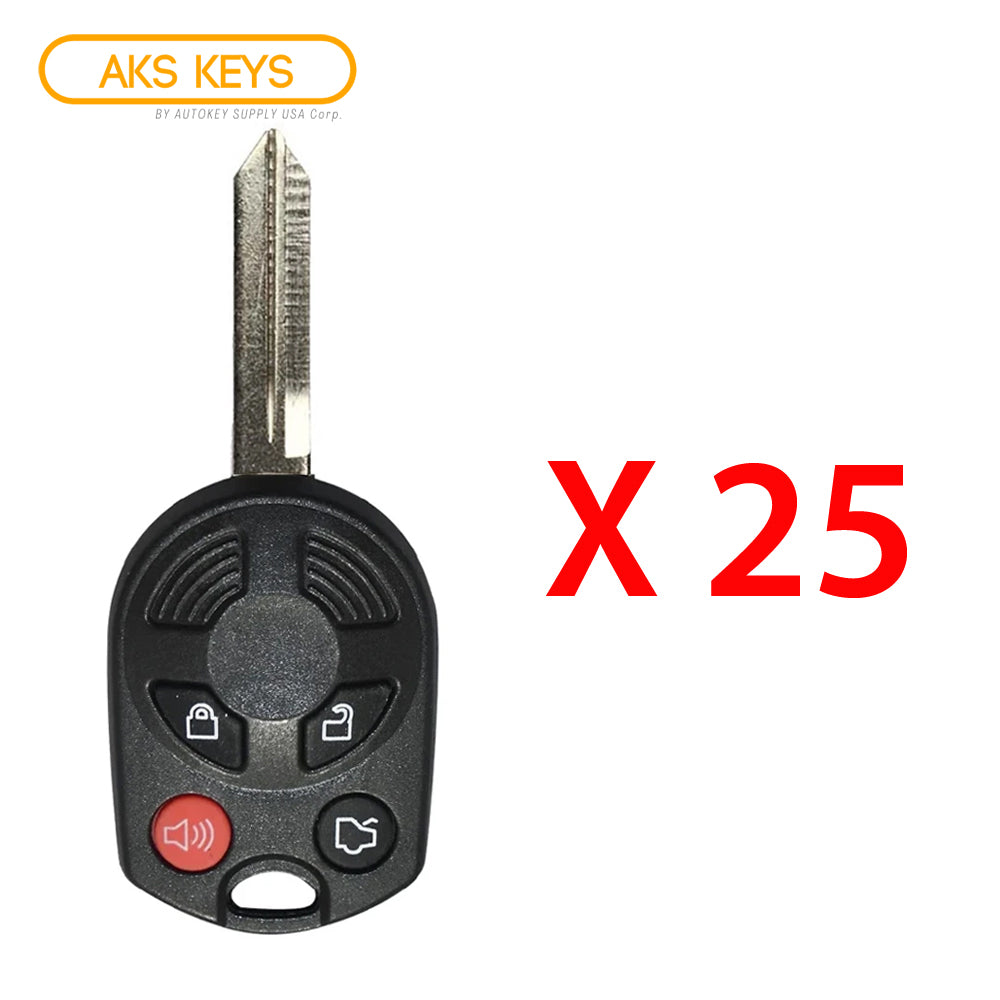 2006 - 2011 Mercury Remote Head Key FCC# OUCD6000022 (25 Pack)