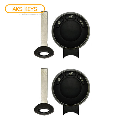 2006 - 2011 Mini Cooper Remote Fobik Key FCC# IYZKEYR5602 (2 Pack)