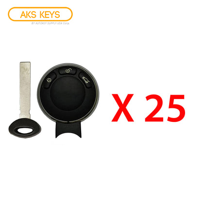 2006 - 2011 Mini Cooper Remote Fobik Key FCC# IYZKEYR5602 (25 Pack)
