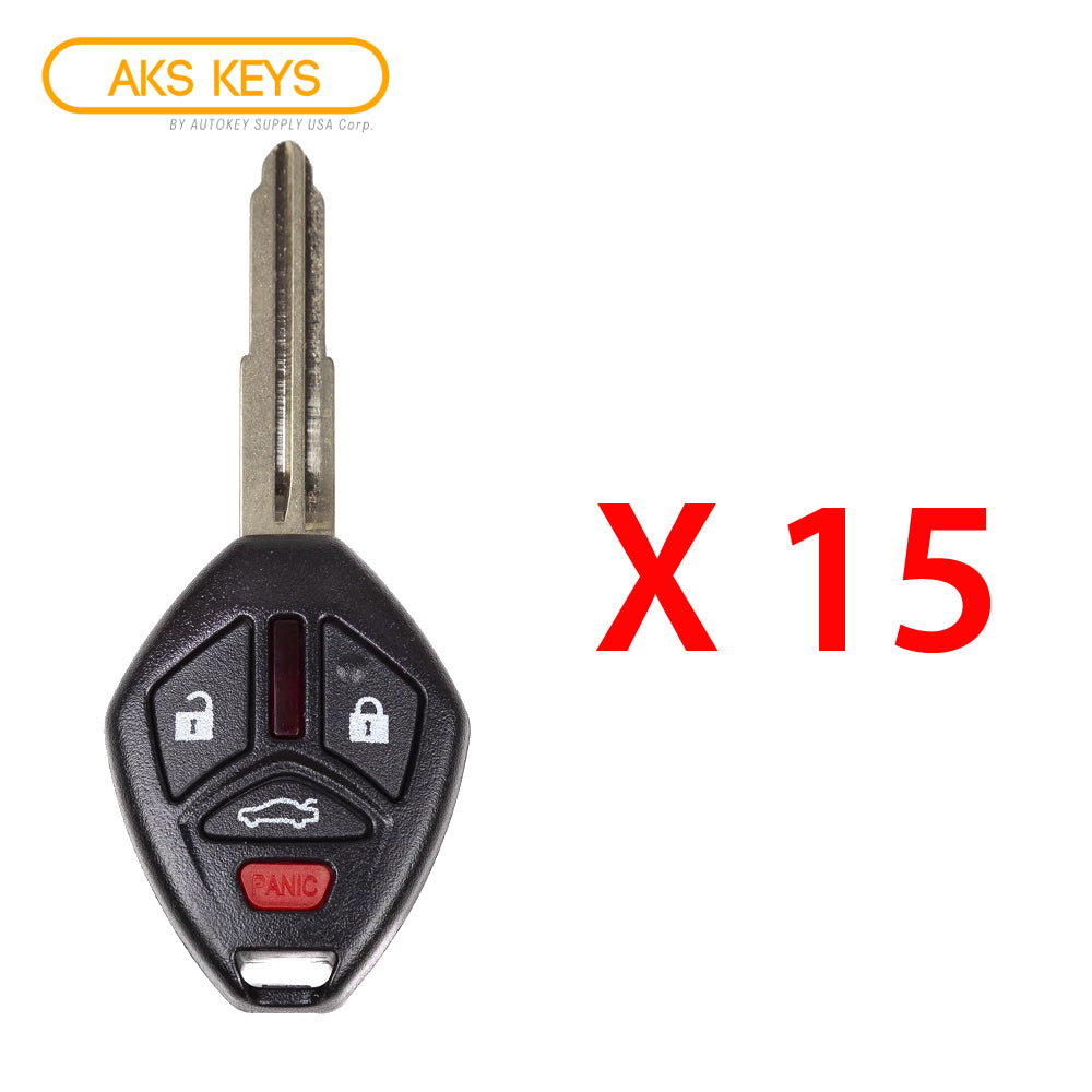 2007 - 2012 Mitsubishi Remote Control Key 4B FCC# OUCG8D-620M-A (15 Pack)