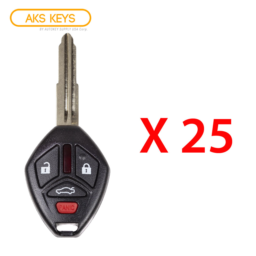 2007 - 2012 Mitsubishi Remote Control Key 4B FCC# OUCG8D-620M-A (25 Pack)