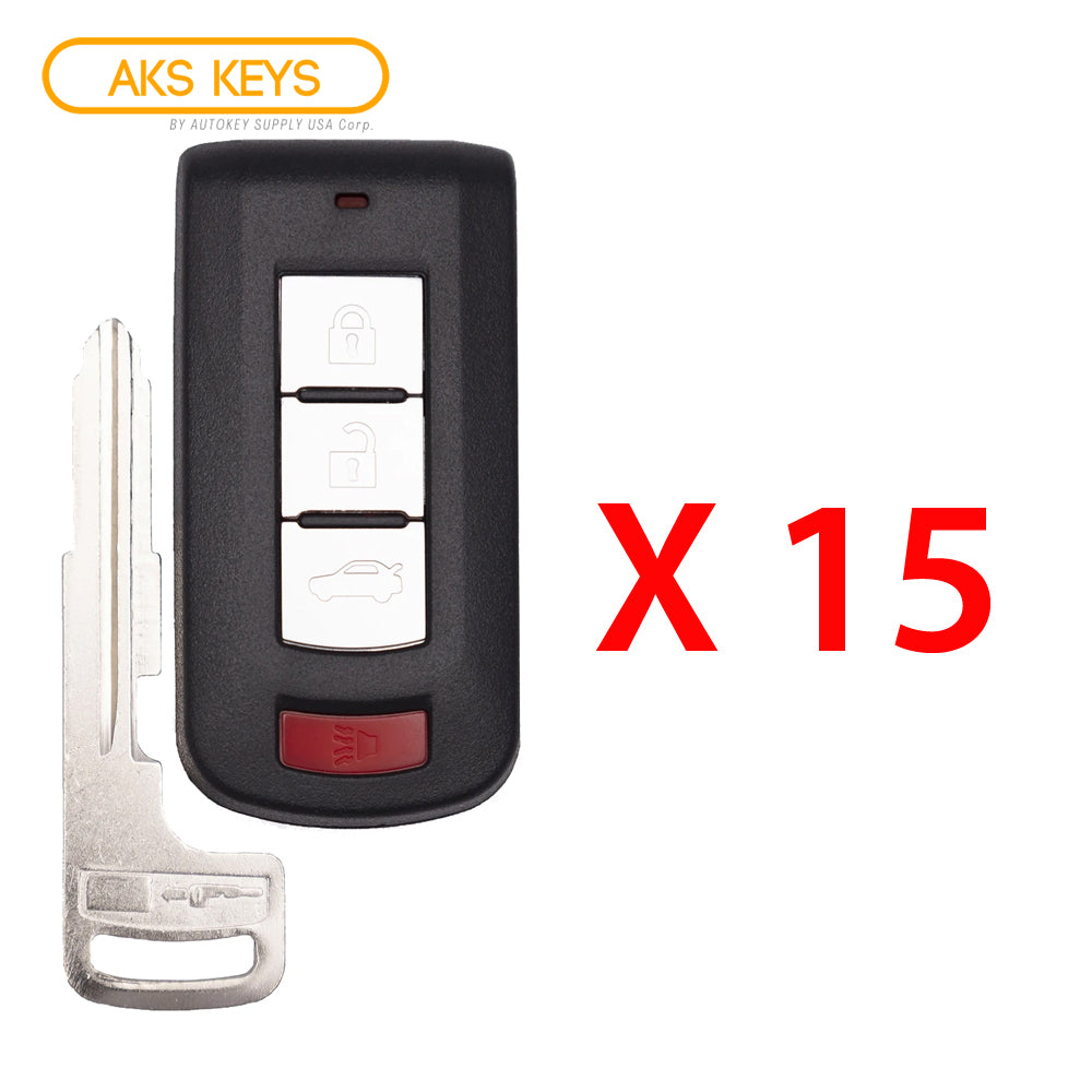 2008 - 2017 Mitsubishi Lancer Smart Key 4B FCC# OUC644M-KEY-N (15 Pack)