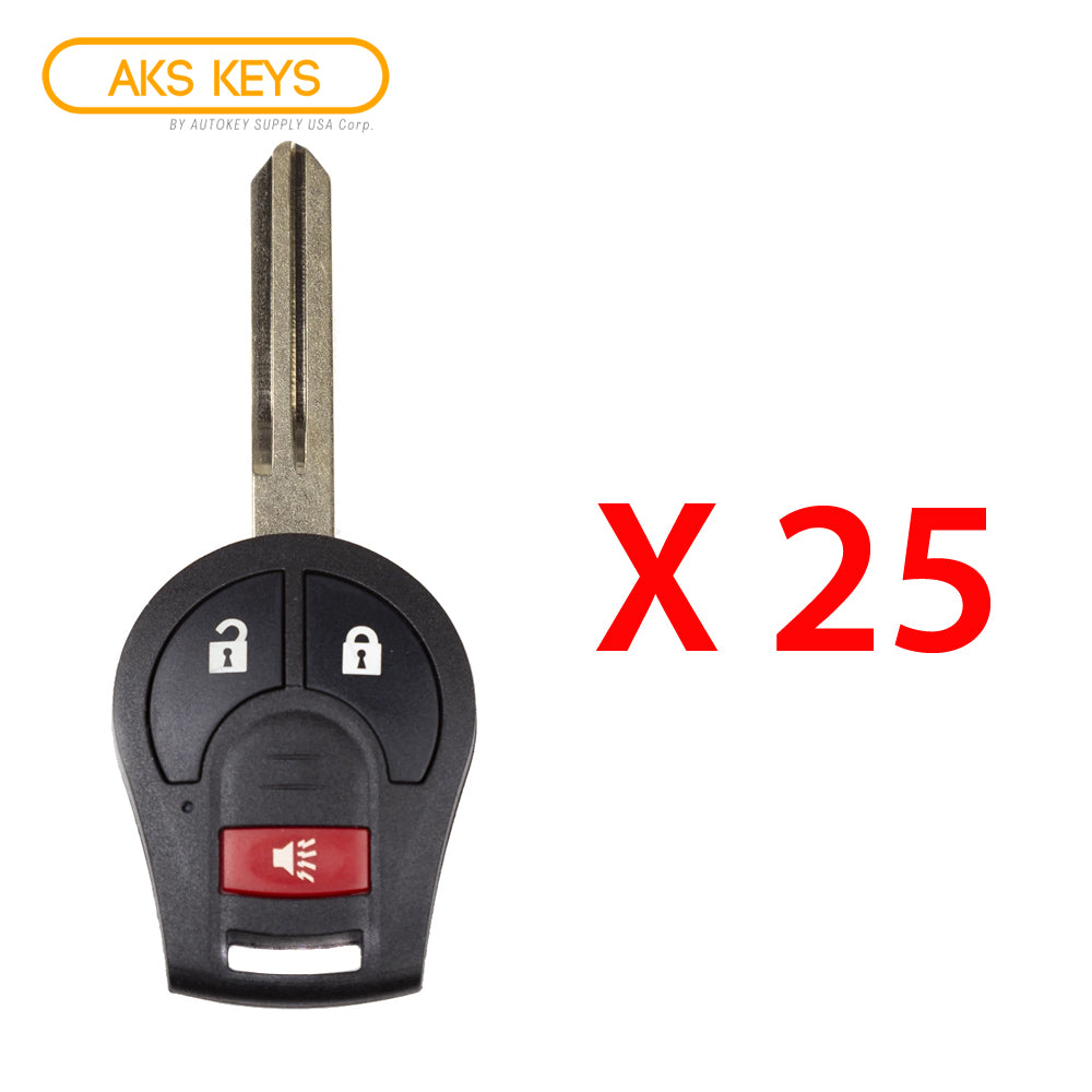 2003 - 2017 Nissan Remote Key 3B FCC# CWTWB1U751 (25 Pack)