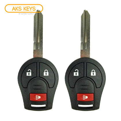 2012 - 2017 Nissan Versa Remote Head Key 3B  FCC ID: CWTWB1U751 (2 Pack)