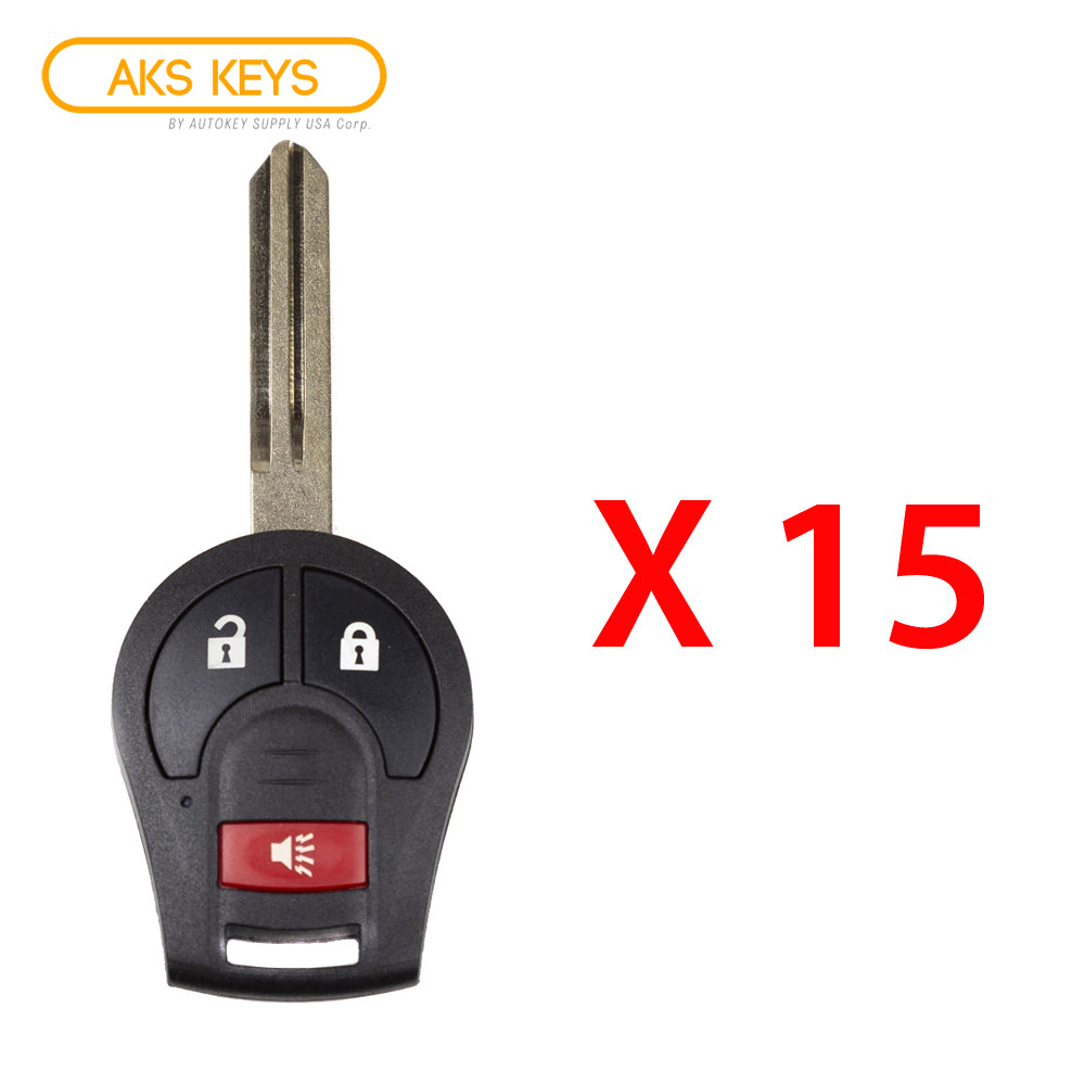 2012 - 2017 Nissan Versa Remote Head Key 3B  FCC ID: CWTWB1U751 (15 Pack)