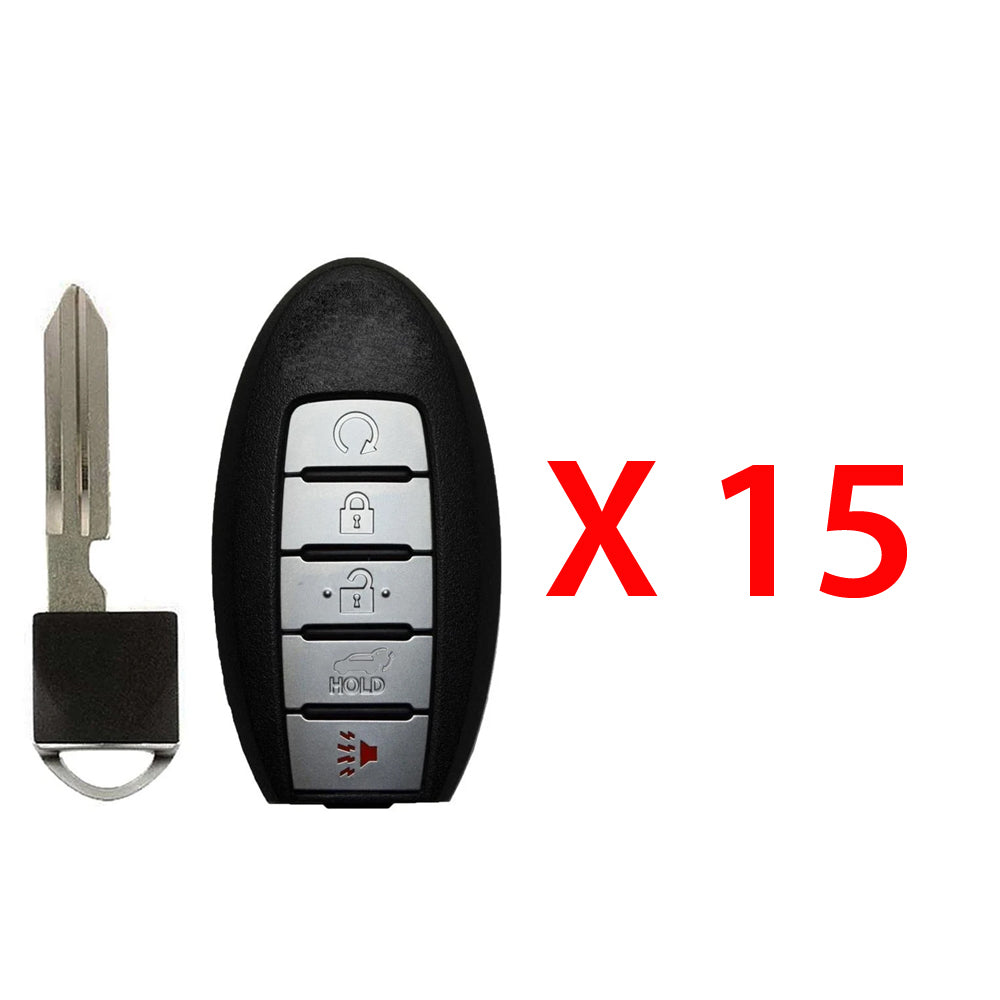 2015 - 2018  Nissan Prox. Smart Key w/ Remote Start and Hatch 5B FCC# KR5S180144014 (15 Pack)
