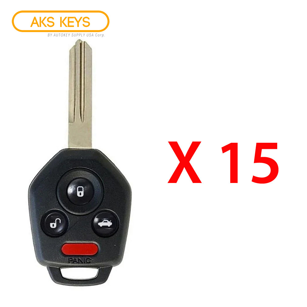 2011 - 2014 Subaru Tribeca Remote Head Key 4B FCC# CWTWB1U811 (15 Pack)