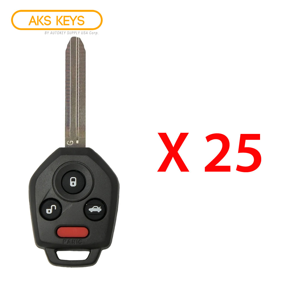 2012 - 2019 Subaru Remote Head Key 4B FCC# CWTWBU766 - 433 MHz - CANADA (25 Pack)