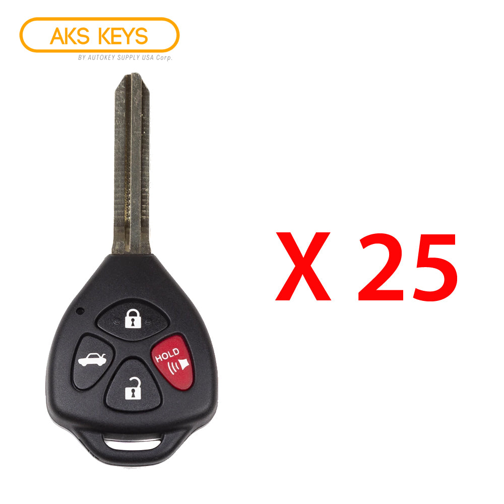 2008 - 2012 Toyota Remote Head Key 4B FCC# GQ4-29T / 4D 67 (25 Pack)