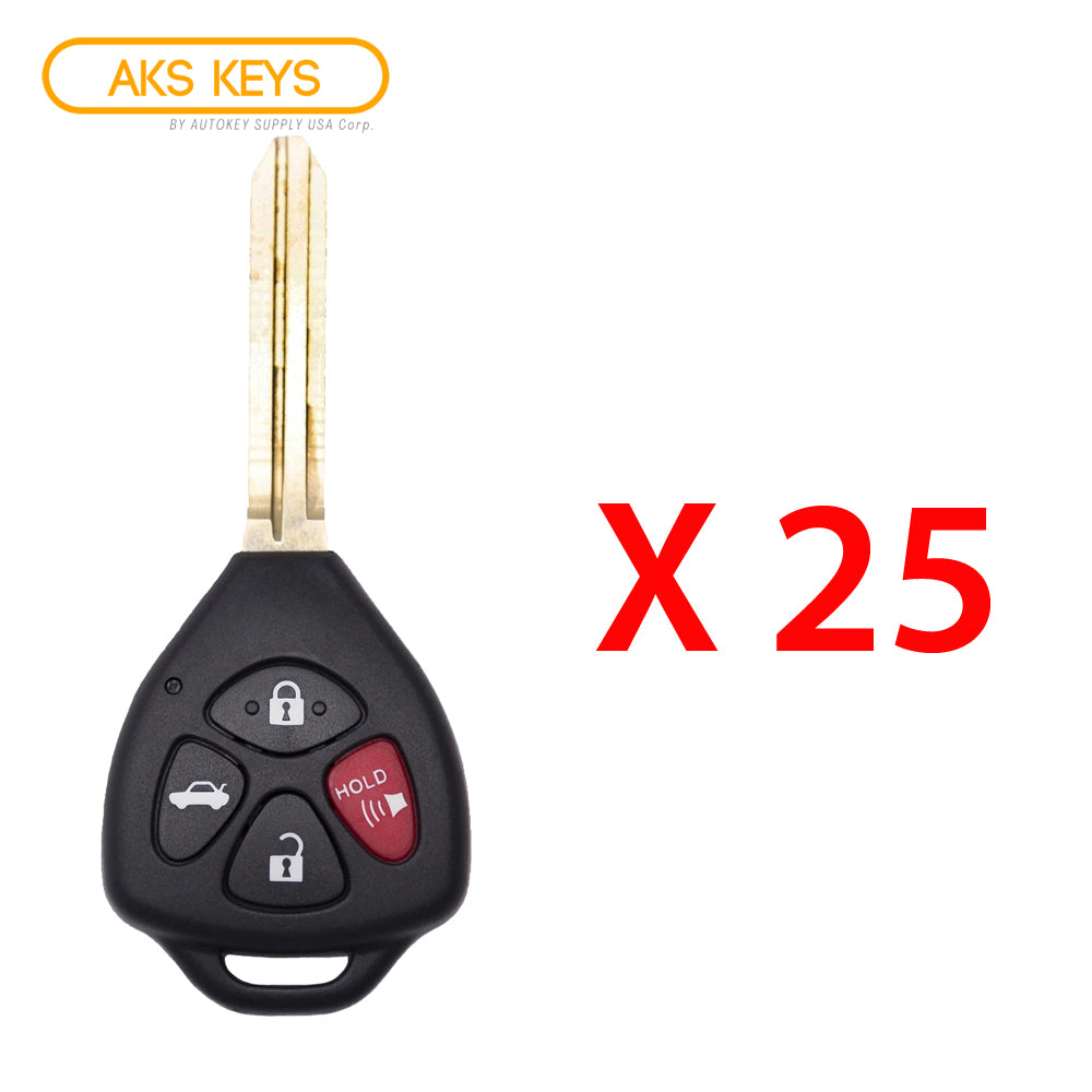 2010 - 2013 Toyota Corolla Remote Head Key 4B FCC# GQ4-29T - G Chip (25 Pack)