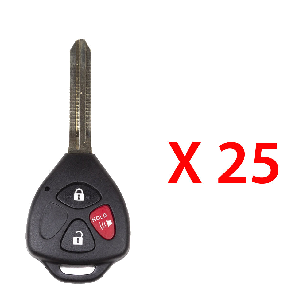 2007 - 2012 Toyota Scion Remote Key 3B FCC# HYQ12BBY- Non Chip (25 Pack)