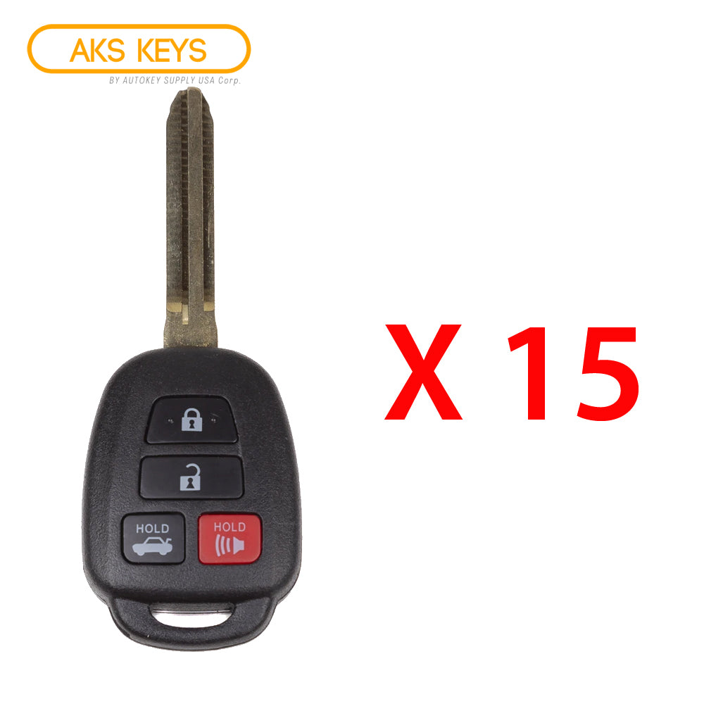 2014 - 2018 Toyota Camry Remote Head Key 4B FCC# HYQ12BDM (15 Pack)