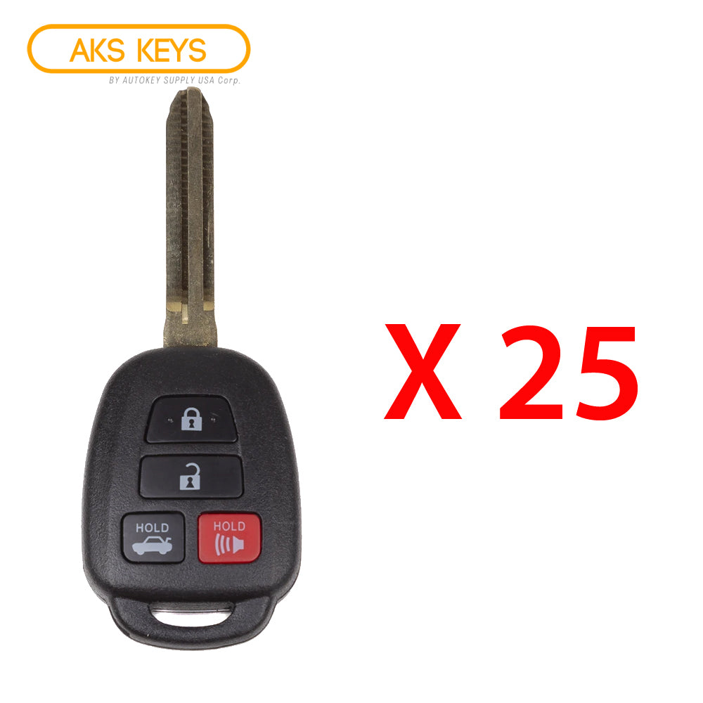 2014 - 2018 Toyota Camry Remote Head Key 4B FCC# HYQ12BDM (25 Pack)