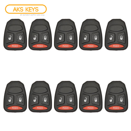 2004 - 2007 New Remote Control Key Keyless Fob Rubber Pad Buttons For Dodge Mitsubishi 3B (10 Pack)