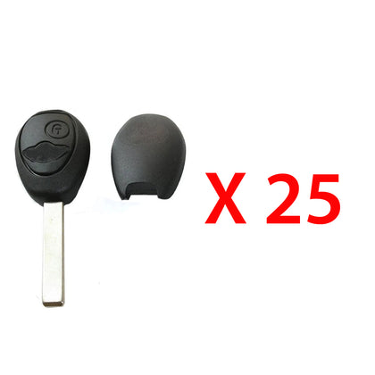 1999 - 2002 Mini Cooper Remote Key Shell 2B (25 Pack)