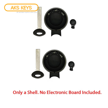 2008 - 2012 Mini Cooper Smart Key Shell 3B (2 Pack)