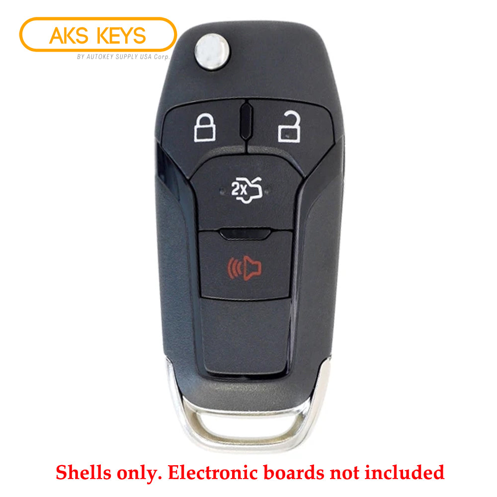 2013 - 2016 Ford Fusion Remote Flip Key Shell for FCC# N5F-A08TAA