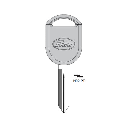 2000 - 2019 Ford Lincoln Mazda Mercury Transponder Key - 4D63 (80 Bits) Chip - H92-PT