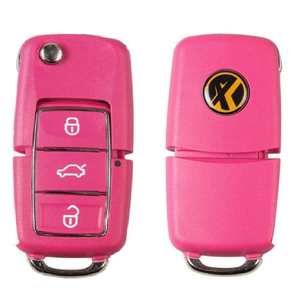 Xhorse Volkswagen B5 Style Remote Key 3 Buttons for VVDI Key Tool English Red version