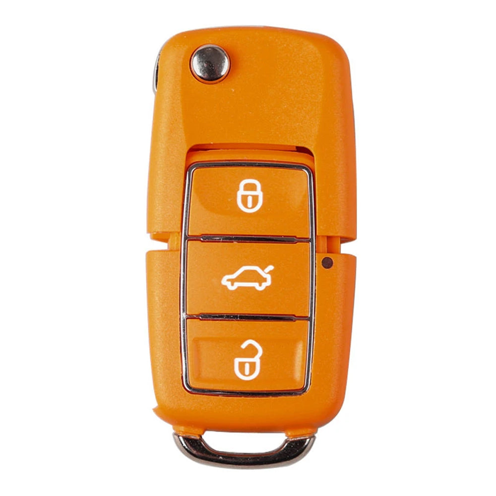 Xhorse Volkswagen B5 Style Remote Key 3 Buttons for VVDI Key Tool English Yellow version