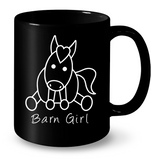 Black Barn Girl Mug