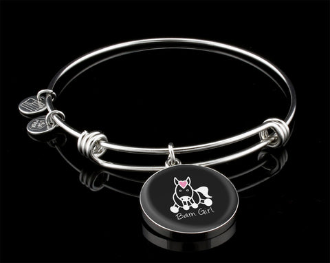 Midnight Black Bangle-Bracelet