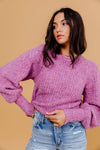Reggie Fuzzy Sweater- Purple/Pink