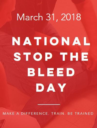 National Stop The Bleed Day March 31st