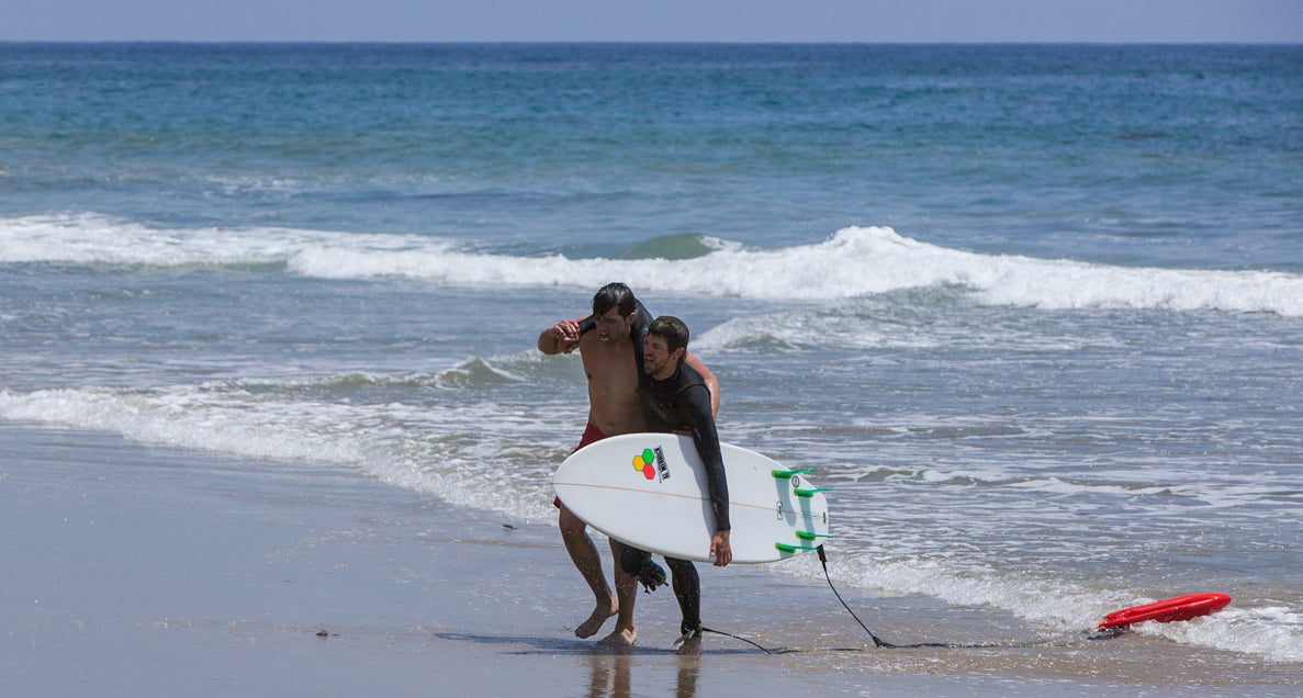 LIFEGUARD SAVES SURFER FROM SHARK ATTACK