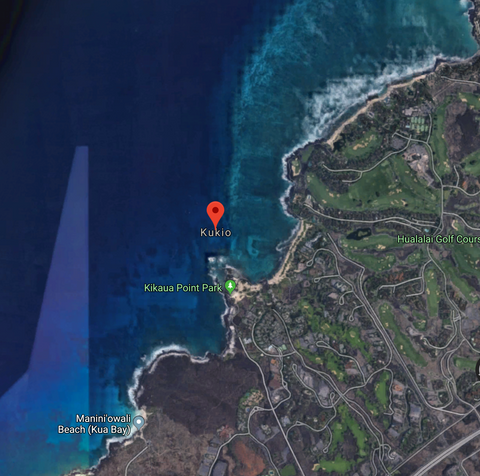 Kukio Hawaii Shark Attack Location