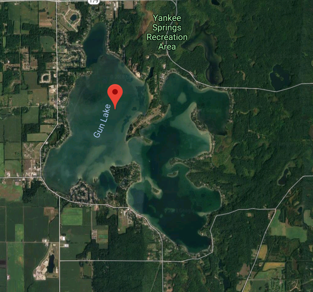 Gun Lake, MI, location of propeller amputation