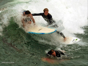 Crowded Surf Break Surfer Collision