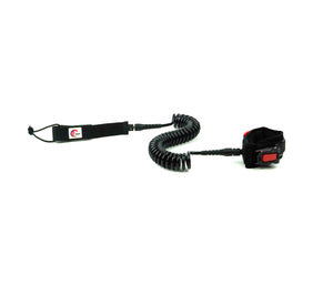 OMNA Mini Tourniquet Stand Up Paddleboard Leash - Black - surfs seamlessly, and provides bleeding control for grom surfers