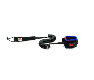 OMNA Tourniquet Stand Up Paddleboard Leash - Blue - surfs seamlessly, and provides bleeding control for surfers