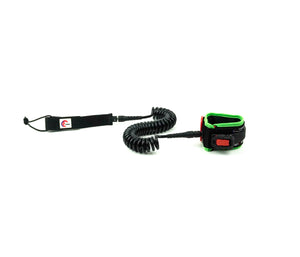OMNA Tourniquet Stand Up Paddleboard Leash - Neon Green - surfs seamlessly, and provides bleeding control for surfers