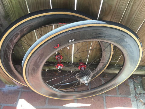CUSTOMER ZIPP RIMS WHITE INDUSTRIES KING HUBS SAPIM SPOKES - Côte Wheels  - 1