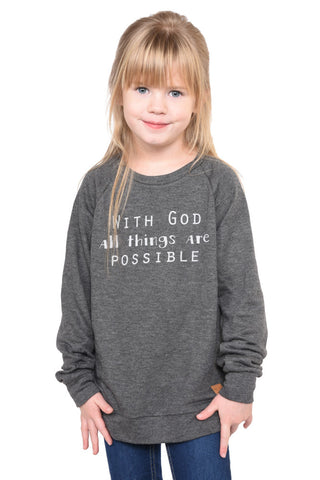With God Sweatshirt- Youth