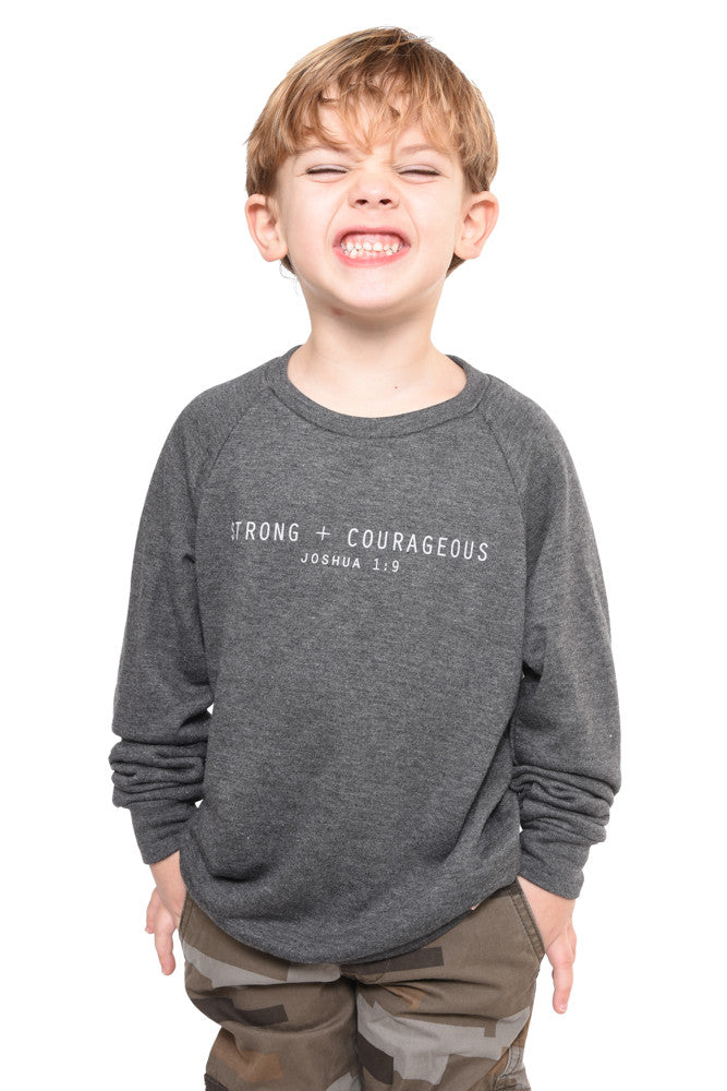 Strong + Courageous Sweatshirt- Youth