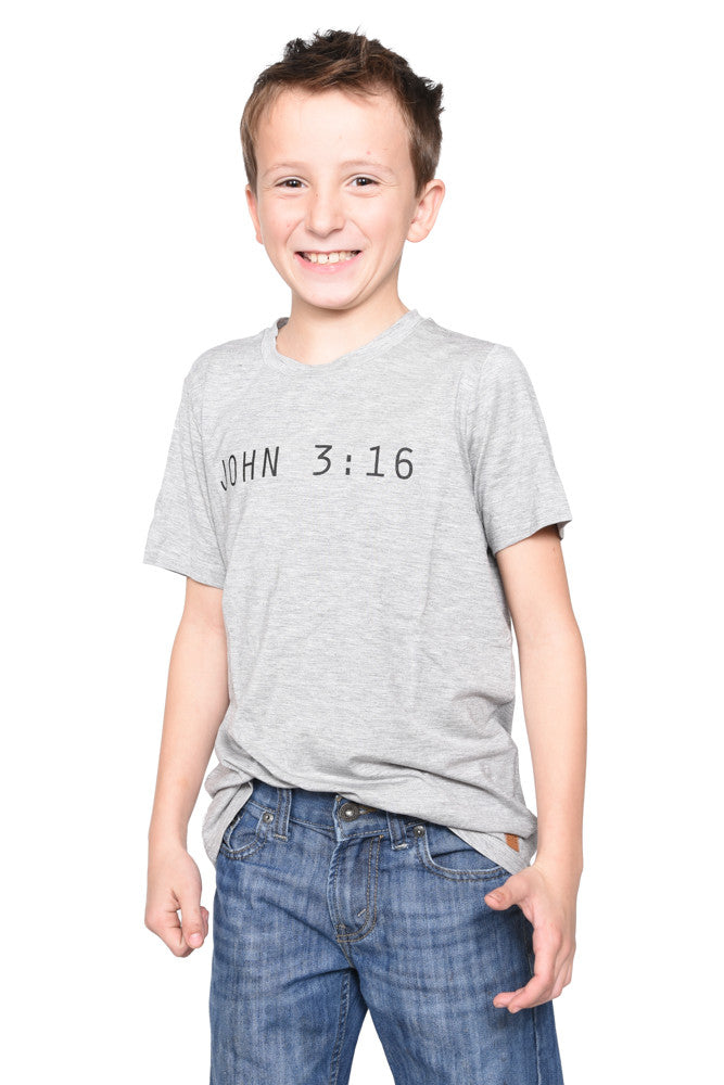 John 3:16 Short Sleeve Shirt- Youth