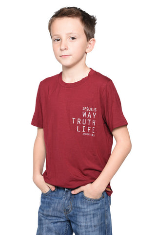 John 14:6 Short Sleeve Shirt- Youth