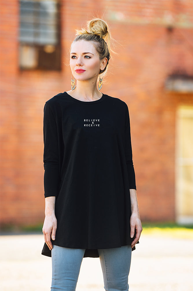 Believe & Receive Swing Tunic