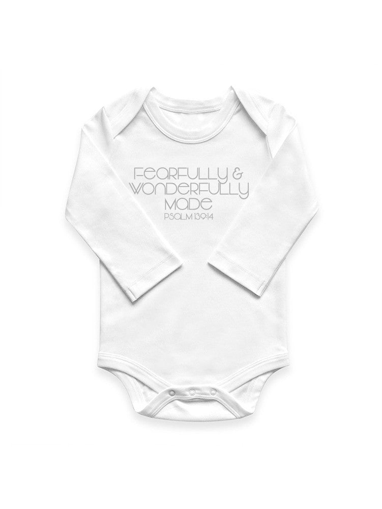Psalm 139:14 Long Sleeve Onesie
