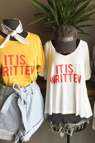 It is Written Swing Tee