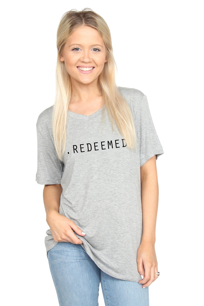 Redeemed: V-neck Tee